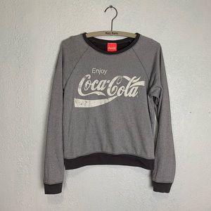 Coca Cola gray & white boxy fit graphic sweatshirt